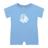 Light Blue Infant Romper-Warrior Helmet