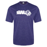 Performance Royal Heather Contender Tee-SWU w/ Knight