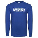 Royal Long Sleeve T Shirt-Southern Wesleyan