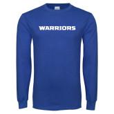 Royal Long Sleeve T Shirt-Warriors