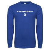 Royal Long Sleeve T Shirt-#TeamSWU