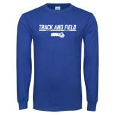 Royal Long Sleeve T Shirt-Track and Field Bar