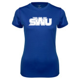 Ladies Syntrel Performance Royal Tee-SWU