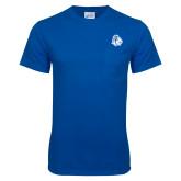 Royal T Shirt w/Pocket-Warrior Helmet