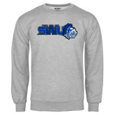 Grey Fleece Crew-SWU w/ Knight