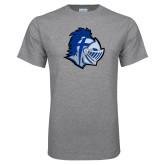 Grey T Shirt-Warrior Helmet