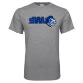 Grey T Shirt-SWU w/ Knight