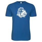Next Level SoftStyle Royal T Shirt-Warrior Helmet