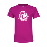 Youth Cyber Pink T Shirt-Warrior Helmet