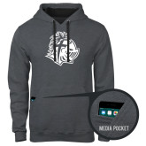 Contemporary Sofspun Charcoal Heather Hoodie-Warrior Helmet