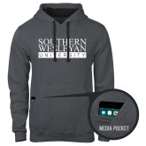 Contemporary Sofspun Charcoal Heather Hoodie-University Wordmark