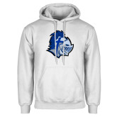White Fleece Hoodie-Warrior Helmet