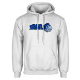 White Fleece Hoodie-SWU w/ Knight