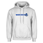 White Fleece Hoodie-Warriors w/ Knight