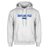 White Fleece Hoodie-Track and Field Bar