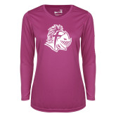 Ladies Syntrel Performance Raspberry Longsleeve Shirt-Warrior Helmet