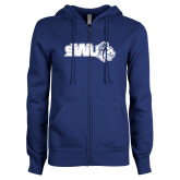 ENZA Ladies Royal Fleece Full Zip Hoodie-SWU w/ Knight