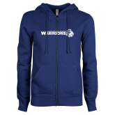 ENZA Ladies Royal Fleece Full Zip Hoodie-Warriors w/ Knight