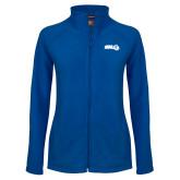Ladies Fleece Full Zip Royal Jacket-SWU w/ Knight