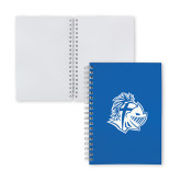 Clear 7 x 10 Spiral Journal Notebook-Warrior Helmet