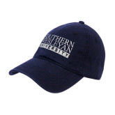 Navy Twill Unstructured Low Profile Hat-University Wordmark