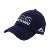 Adidas Navy Slouch Unstructured Low Profile Hat-University Wordmark