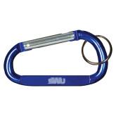 Blue Carabiner with Split Ring-SWU  Engraved
