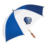 62 Inch Royal/White Vented Umbrella-Warrior Helmet