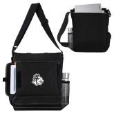 Impact Vertical Black Computer Messenger Bag-Warrior Helmet