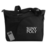 Excel Black Sport Utility Tote-SYPy Poly Stacked