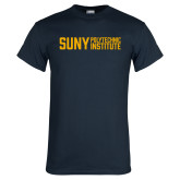 Navy T Shirt-Block Stacked