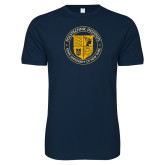 Next Level SoftStyle Navy T Shirt-University Seal