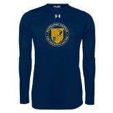 Under Armour Navy Long Sleeve Tech Tee-University Seal