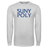 White Long Sleeve T Shirt-SYPy Poly Stacked
