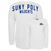 White Game Day Jersey Tee-Primary Mark