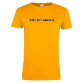 Ladies Gold T Shirt-Suny Poly Wildcats