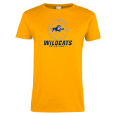 Ladies Gold T Shirt-Wildcats Volleyball