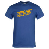Royal T Shirt-Suny Poly Wildcats Clawed