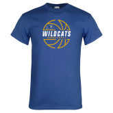 Royal T Shirt-Wildcats Basketball