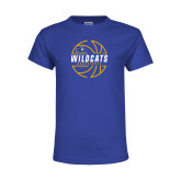 Youth Royal T Shirt-Wildcats Basketball
