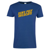 Ladies Royal T Shirt-Suny Poly Wildcats Clawed