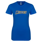 Next Level Ladies SoftStyle Junior Fitted Royal Tee-Wildcats