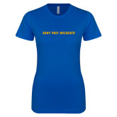 Next Level Ladies SoftStyle Junior Fitted Royal Tee-Suny Poly Wildcats