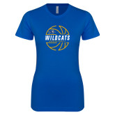 Next Level Ladies SoftStyle Junior Fitted Royal Tee-Wildcats Basketball