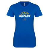 Next Level Ladies SoftStyle Junior Fitted Royal Tee-Wildcats Soccer