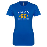 Next Level Ladies SoftStyle Junior Fitted Royal Tee-Wildcats Cross Country