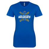 Next Level Ladies SoftStyle Junior Fitted Royal Tee-Wildcats Ball