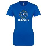 Next Level Ladies SoftStyle Junior Fitted Royal Tee-Wildcats Volleyball
