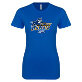 Next Level Ladies SoftStyle Junior Fitted Royal Tee-Wildcat Mom