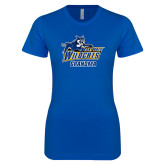 Next Level Ladies SoftStyle Junior Fitted Royal Tee-Wildcat Grandma